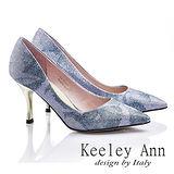 Keeley Ann 閃耀名媛~印花金蔥尖頭高跟鞋(蘭紫色)【535713103】