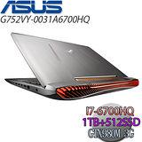 ASUS 華碩 G752VY-0031A6700HQ 17.3吋FHD i7-6700HQ/16G/1TB+512SSD/GTX980M 3G 極速剽悍電競筆電
