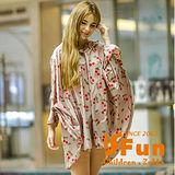 【iSFun】成人專用*短版斗篷式雨衣/L號米櫻桃