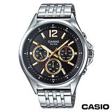 【CASIO卡西歐】 指針系列歐美時尚三眼石英男錶 MTP-E303D-1A