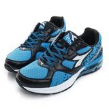 DIADORA (男) 慢跑鞋 藍黑銀 DA7AMR3796