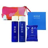KOSE高絲 雪肌精保養三件組+化妝棉 (贈專櫃化妝包)