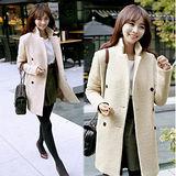 《韓國K.W.》優質羊毛質感保暖風衣外套(在台現貨)