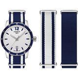 TISSOT 天梭 QUICKSTER NATO 生活時尚運動帆布石英腕錶/40mm/T0954101703701