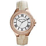 Michael Kors Slim Camille 羅馬晶鑽腕錶-銀x玫塊金框/41mm MK2330