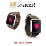 ICARER 瘋馬紋系列 Apple Watch 手工真皮錶帶
