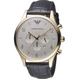 Emporio Armani Classic 復刻計時時尚腕錶 AR1892 金色