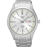 SEIKO 精工 5號盾牌日曆機械腕錶-銀/42mm 7S26-04M0S(SNKN85J1)
