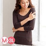 日本Portcros 預購-U領七分袖蘆薈保濕發熱衣(共五色/M-3L)