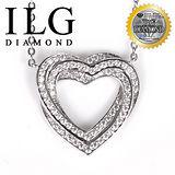 【ILG鑽】頂級八心八箭擬真鑽石項鍊-無限愛戀款 NC116 愛心型送禮首選