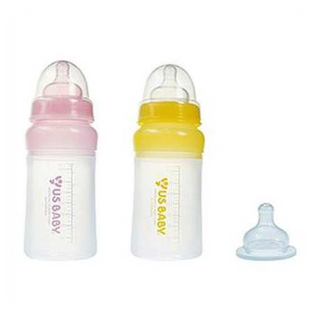 優生矽晶奶瓶(寬口L)+贈M奶嘴 -friDay購物 x GoHappy