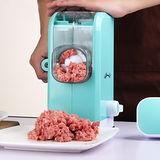 PUSH!廚房用品六刃鋒絞肉機 餡料處理機D13-1藍色