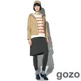 gozo 熱氣球裙擺假兩件式內搭褲 -灰