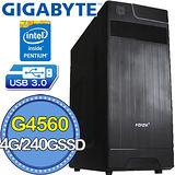 技嘉H110平台【天狗兵法】Intel第七代G系列雙核 SSD 240G效能電腦