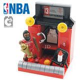 【C3 TOYS】超可動積木人偶NBA系列-球員休息室套組 哈登 21527