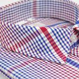 【金安德森】紅藍色格紋短袖襯衫