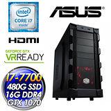 ASUS華碩Z270 火靈(I7-7700/DUAL-GTX1070-O8G-GAMING/480G SSD/16G D4 2400/650W大供電)電競主機