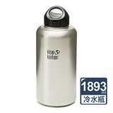 美國Klean Kanteen寬口不鏽鋼冷水瓶1893ml-原鋼色