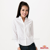 BRAPPERS 女款 女用長袖襯衫-白