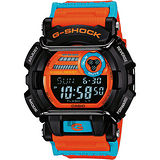 CASIO 卡西歐 G-SHOCK 夏日狂熱運動錶-橘 GD-400DN-4DR