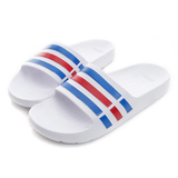 Adidas 男/女鞋 拖鞋 白藍紅 U43664