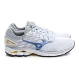 MIZUNO (男) 慢跑鞋 白藍 J1GC170329
