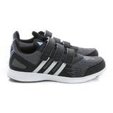Adidas (童) 慢跑鞋 黑灰藍 AQ3867