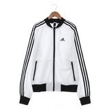 Adidas 女 尼龍防風外套 白 BK5536