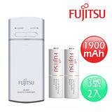 FUJITSU富士通 一台三役USB電池充電組(附3號1900mAh電池2顆)