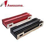 Awesome M.2 SSD NGFF 2280散熱片(紅/黑)-AWD-MCS01