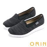 ORIN 引出度假氣氛 異國風情透氣平底便鞋-黑色