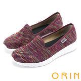ORIN 引出度假氣氛 異國風情透氣平底便鞋-紅色