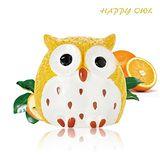 HAPPY OWL 快樂貓頭鷹護唇膏-熱情蜜橘 1.5G