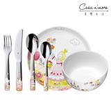 WMF 公主兒童餐具組7入 不鏽鋼材質 湯匙 餐叉 餐刀 餐碗 餐盤 馬克杯