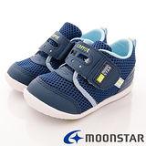 日本Carrot機能童鞋-護踝透氣機能款-B906深藍-(13cm-14.5cm)