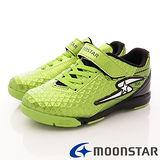 日本月星競速童鞋-足球運動款-SSJ7477綠(20cm-24.5cm)