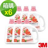 (箱購) 3M 天然酵素葡萄柚香氛濃縮洗衣精(1800ml)x6罐