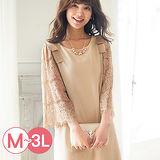 日本Portcros 預購-蕾絲袖拼接蝴蝶結洋裝(共三色/M-3L)