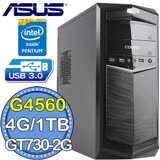 華碩H110平台【魔銀剛劍】Intel第七代G系列雙核 GT730-2G獨顯 1TB效能電腦