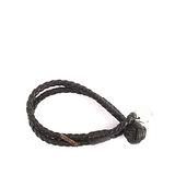 【BOTTEGA VENETA】小羊皮雙圈編織手環 S (海軍藍色)