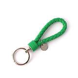 【BOTTEGA VENETA】小羊皮 key圈 (竹子綠)