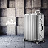 Rowana 閃耀律動立體拉絲輕量鋁框行李箱 29吋( 雅致銀)