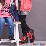 【Betty Boop貝蒂】假兩件配色縫布口袋棉質內搭褲(藍色)