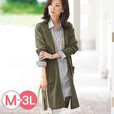 日本Portcros 預購-高雅寬羅紋雙口袋針織外套(共七色/M-3L)