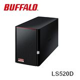 Buffalo 高性能2bay NAS網路伺服器LS520D(不含硬碟)