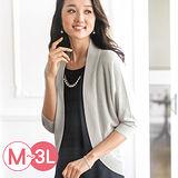日本Portcros 預購-金蔥混紡披肩式針織外套(共三色/M-3L)