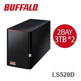 Buffalo 高性能2bay NAS網路伺服器LS520D0602(含2顆3TB硬碟)