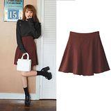 日本ANNA LUNA 預購-ViVi雜誌 高腰鬆緊喇叭裙(咖啡色/M-L)