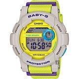 CASIO 卡西歐 Baby-G 撞色潮汐顯示錶 BGD-180-3DR