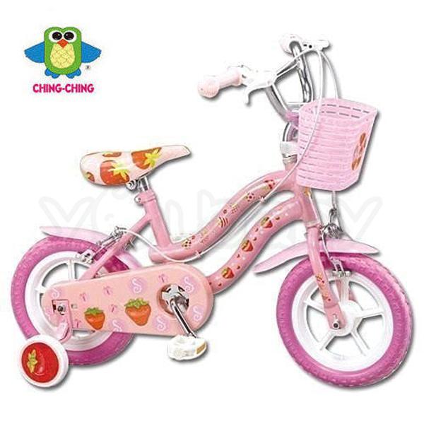 親親 CHING-CHING 12吋兒童腳踏車(粉)-草莓